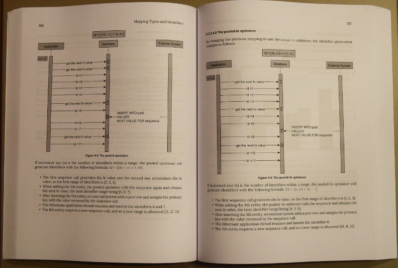 The interior of the High-Performance Java Persistence paperback