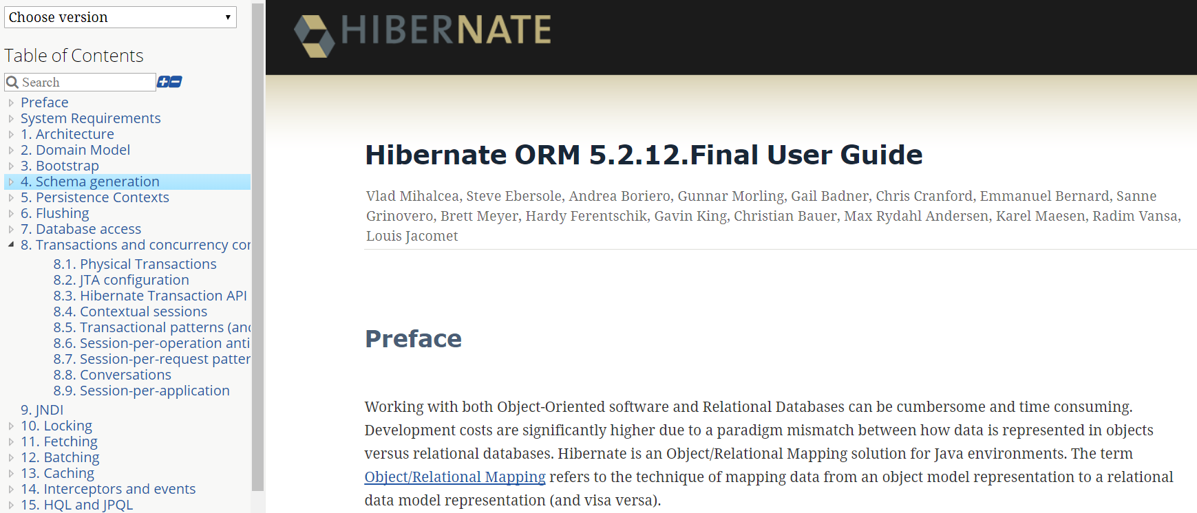 Hibernate User Guide
