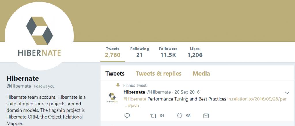 Hibernate Twitter - 2018