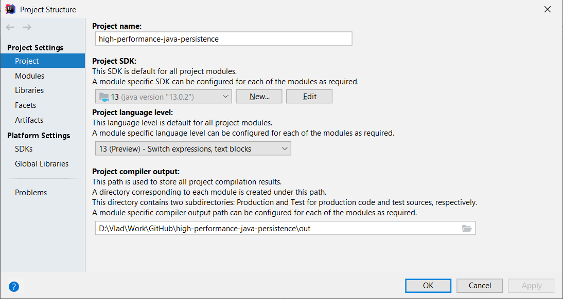 HHow to set up IntelliJ IDEA to enable the Java 13 preview features