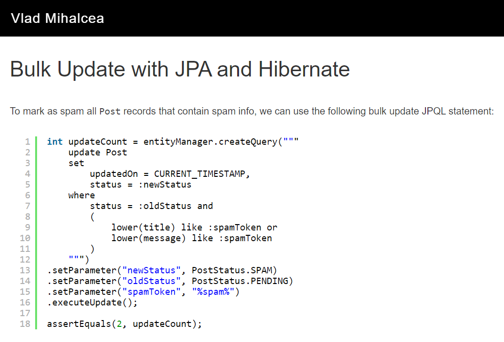 Bulk Update and Delete with JPA and