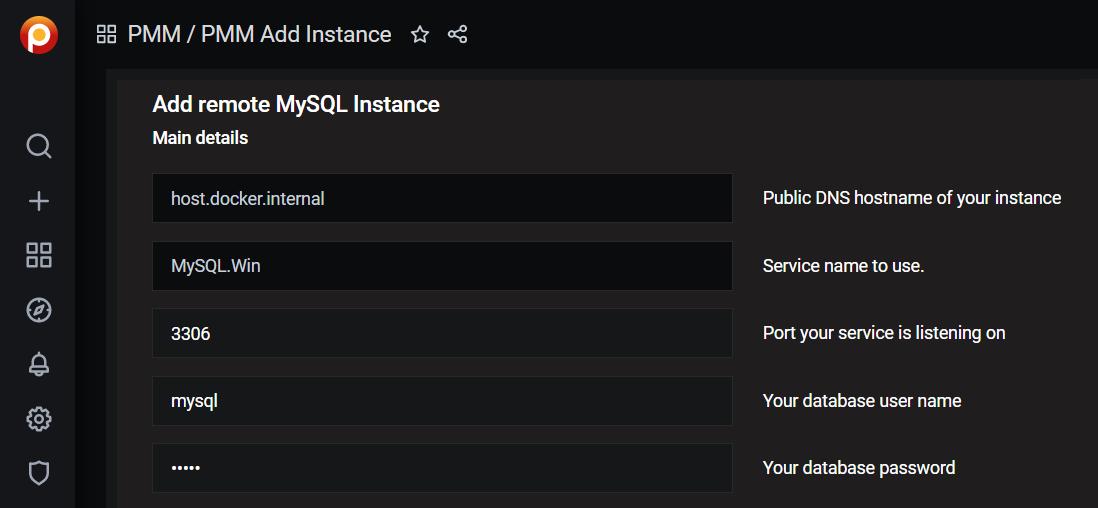 Percona PMM Add MySQL