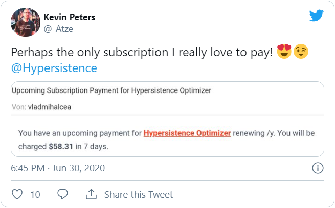 Hypersistence Optimizer Twitter Kevin Peters 1