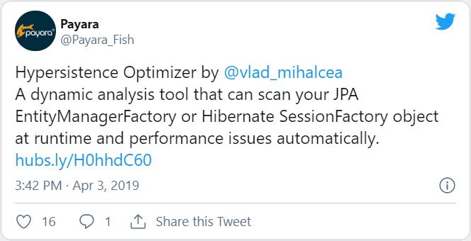 Hypersistence Optimizer Twitter Payara